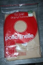 Sous Vêtement Tee Shirt Homme Polichinelle Dropnyl beige Taille 1 Vintage neuf