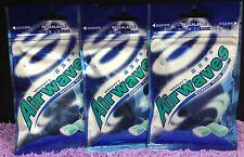 3 pks 60x Pellet Wrigley's Airwaves Chewing Gum Menthol Eucalyptus 84g Wrigleys