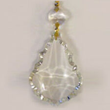 40 CLEAR GLASS CHANDELIER CRYSTALS PRISMS FRENCH PENDANT DROPS LAMP PARTS GOLD