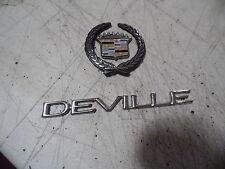 OEM 00 Cadillac Deville Set Of Trunk Decals and Logo Emblems, nameplates badges