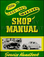 1932-1941 Ford Car and Pickup Truck Shop Manual Repair Service Book V8 85 and 95 (Fits: Ford)