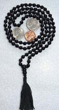 108+1 Onyx Black Hand Knotted Mala Beads Necklace - Energized
