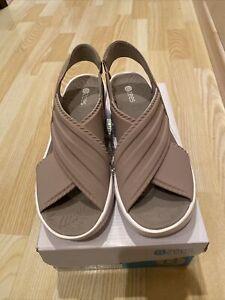 Bzees Sunset Women Shoes Washable Slingback Sandals Taupe Lycra Fabric Sz 9.5 M