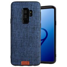Cover Samsung S9 Plus Originale Noziroh Jeans Case 3D Silicone Spesso Retro Blu