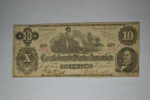 T46 $10 September 2, 1862.   Nice and Original.