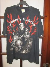 T-shirt JOHNNY HALLYDAY vintage moto aigle noir M