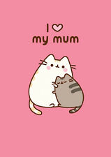 Pusheen The Cat I Love My Mum ~ Blank All Occasion Card   FREE 1ST CLASS POSTAGE