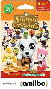 Animal Crossing Amiibo Cards Series 2 Booster Pack [6 NFC Collectible cards] NEW