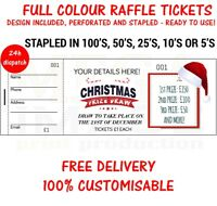 PRINTED PERSONALISED RAFFLE PRIZE DRAW TICKETS