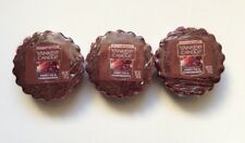 Yankee Candle SWEET FIG & POMEGRANATE LOT OF 3 TARTS WAX MELTS HTF RETIRED SCENT