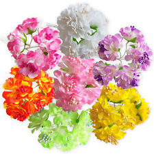 6pcs Artificial Blossom Craft Flowers Hair Garland Floral Decoration Wedding