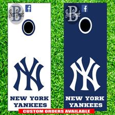 Yankees Cornhole Set of 6 Vinyl Decal Stickers NY New York Bean Bag Toss Game