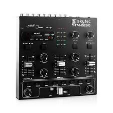 DJ PA TABLE DE MIXAGE 4 CANAUX SKYTEC MIXER STUDIO LIVE USB SD MP3 EQ 2 BANDES