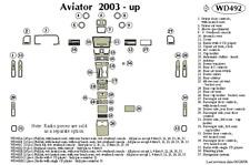 LINCOLN AVIATOR 2003 2004 2005 2006 DASH TRIM KIT f