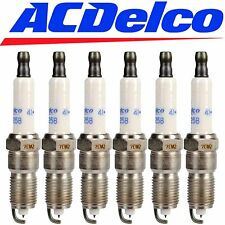 6 GENUINE 41-990 ACDelco OEM# 12597464 Set Of 6 Platinum Spark Plugs