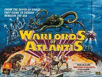 "WARLORDS OF ATLANTIS 1978 repro uk cinema quad poster 30x40"" FREE P&P"