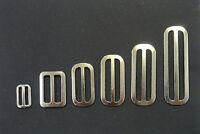 Metal 3 Bar Slides Nickel 13mm 20mm 25mm 32mm 40mm 50mm x10,50 Bag Strap Webbing