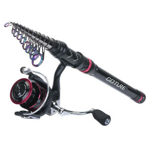 Goture Telescopic Fishing Rod Combo 1.8M-3.6M Spinning Rod Reel Saltwater Tackle