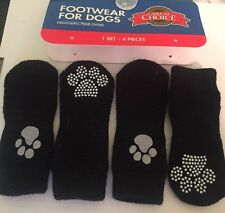 4 Piece Black Small Dog Bootie Set.