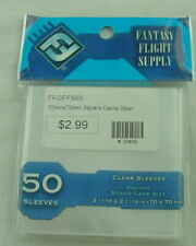 Square Clear Board Game Sleeves (50) by Fantasy Flight Games Ffgffs65 70x70mm