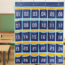 Classroom Hanging Organizer Pocket Chart F Cell Phones Business Cards Holder Y8