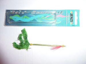 Eel for Seatrout  Sandaalimitat für Meerforellen Spirolino von JENZI 10 cm grün