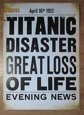 TITANIC NEWSPAPER POSTER COOL VINTAGE LOOKING POSTER