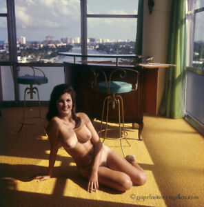 Bunny Yeager 1960s Color Transparency Nude Figure Model Judi Jones Biscayne Bay