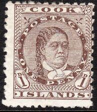 Cook Islands 1893 brown 1d perf 12X11.5 mint SG5