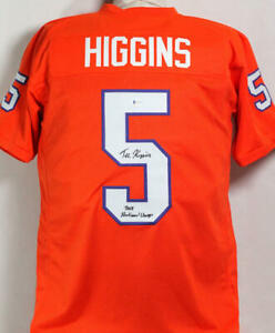 Tee Higgins Autographed Orange College Style Jersey w/ Insc - Beckett W Auth *5