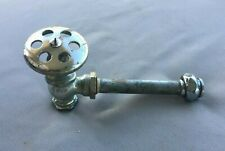 Antique Chrome Brass Sink Toilet Water Supply Shut off Valve Vtg 221-19J