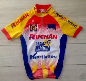 Maillot Vélo Martigues T. M Cyclisme Tour De France Shirt Jersey Auchan