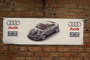 Audi TT  MK2 Type 8J   large pvc  WORK SHOP BANNER garage   SHOW