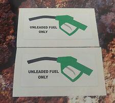 Combustible sin plomo sólo Pegatinas de Advertencia 7-10 Año de vinilo de calidad