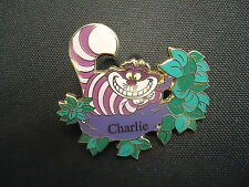DISNEY SHOPPING.COM CHESHIRE CAT IN TREE PERSONALIZED CHARLIE NAME PIN