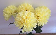 5  x Chrysanthemen creme  Länge  ca- 60 cm   Kunstblumen -Seidenblumen