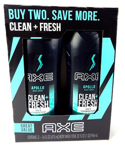 AXE Body Wash Apollo Sage And Cedarwood Scent (16 fl oz Twin Pack)