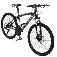 21-Speed Carbon Steel Bicycle 26 Inch Full Suspension Road Bikes Trail Bikes Folding Bicycles MTB Bikes for Men//Women GFHFHITJ Junior Aluminum Full Mountain Bike