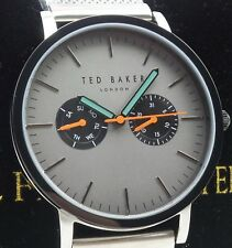 Ted Baker 10031187 Men's Grey Dial Silver Mesh Stainless Steel Watch NEW