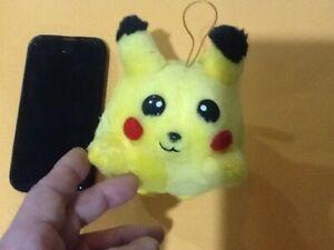 """Pokemon Pikachu Jumbo 6"""" HANGING Plush -1999 Nintendo Hasbro Tomy GREAT ORNAMENT"""