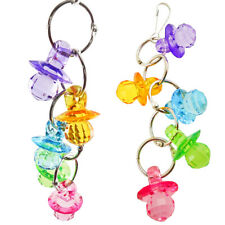 New listing Parrot Hanging String Acrylic Pacifier Bird Toy For Parakeet Cockatiel Budgie