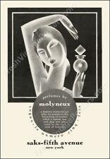 art deco woman Molyneux perfume 1920s vintage ad new poster 24x34