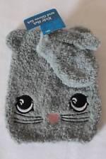 NEW Baby Toddler Beanie Critter Hat Mittens Set Gray Cat Winter Cap Super Soft