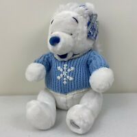 Pooh Bear Disney Store Exclusive Plush Winter White With Blue Sweater & Hat