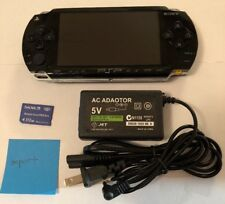 BLACK Sony PSP 1000 System w/ Charger & Memory Card Bundle TESTED WORKS Import