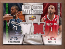 2009-10 Upper Deck Dual GU Game Used Worn Jersey Tracy McGrady Houston Rockets