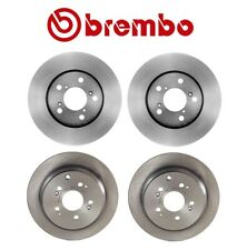 FRONT KIT Black Hart *DRILLED /& SLOTTED* Disc Brake Rotors Ceramic Pads F1887