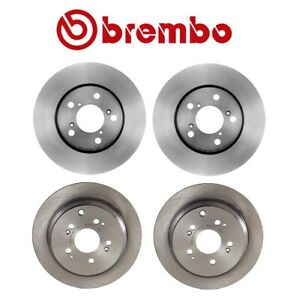 For Honda Odyssey '05-'10 Front and Rear Disc Brake Rotors Kit UV Coated Brembo