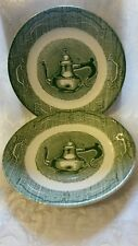 Vtg Royal China USA The Old Curiosity Shop Two Bread & Butter Plates/ Saucers