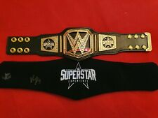 WWE MINI Superstar Experience Replica Title Belt Autographed and Official WWF